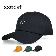 Fashion Casual Baseball Cap Cotton Embroidery Summer Breathable Unisex Adjustable Cactus Solid Color