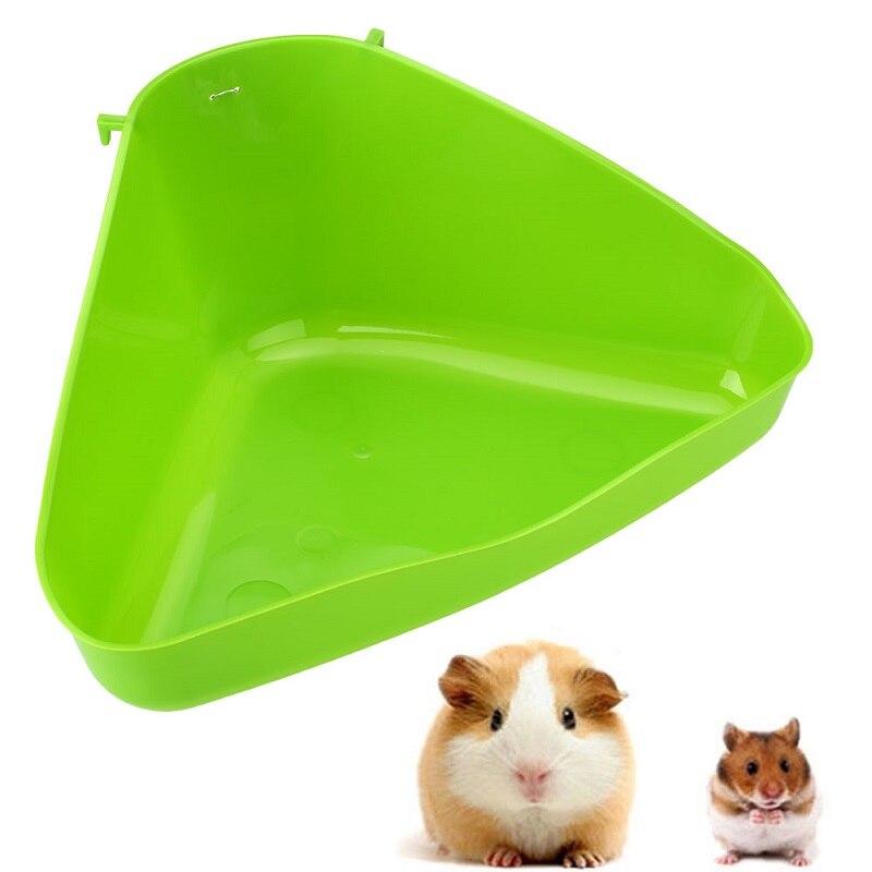 1Pc 36*21*15cm Plastic Corner Litter Tray Pets Toilet Bowl Cat Mouse Rat Rabbit Hamster Pets Supplies Trash Can Color Random