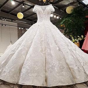 Image 2 - Aijingyu 2021高級クリスタルスパークリングダイヤモンド結婚新しいホット販売vネック正式な花嫁のドレスウェディングドレスWT173