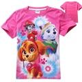 Roupas de bebê Menina T-shirt Da Forma do Verão Cães de Patrulha Do Cão Dos Desenhos Animados Manga Curta Camiseta Crianças Roupas Meninas Camiseta de Patrulha