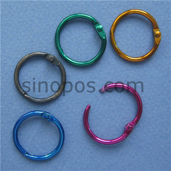 Tienda Online De metal de color split Anillos 20mm, Carpetas de ...