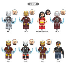 Single Sale Building Blocks Super Heroes Iron Man Dance Girl Series MK 2 Figures Model Collection For Children Toys Gift(China)