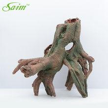 Saim Aquarium Decoration Resin Artificial Fake Wood Ornament Imitation Roots Driftwood Trunk Fish Tank Decor