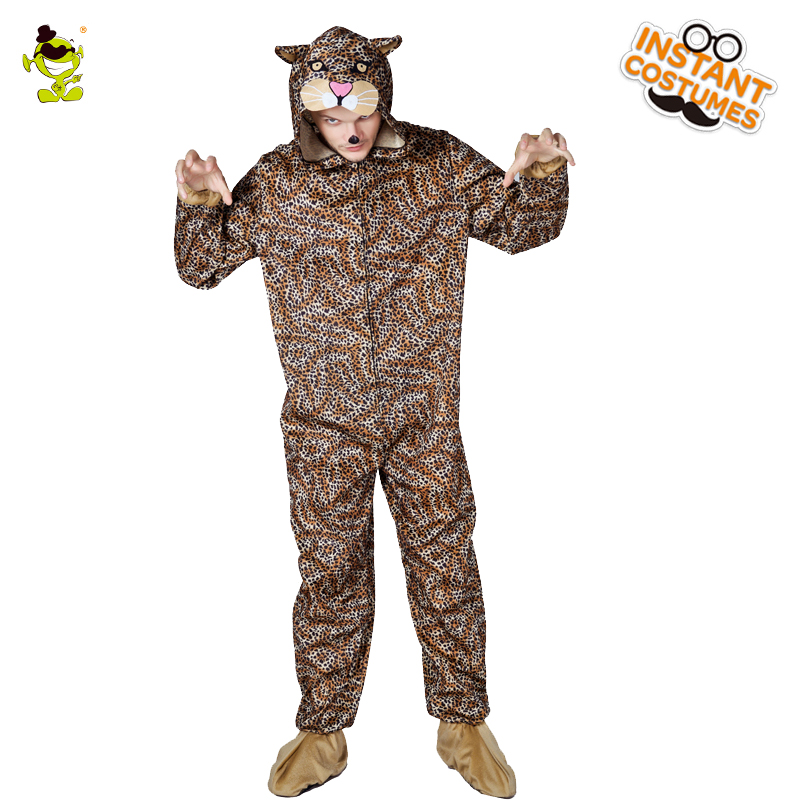 Hot Sale Men's Leopard Pajama Overcall  Leopard Nightgowns Costumes Animal Sleepwear Cosplay Home Clothes New Leopard Pajamas