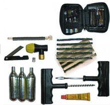 Co2 шин накачивания шин инфлятором ремкомплект инструмент мотоцикл на квадроциклах байк, 16 г картридж + шины строки + цемент + выпуска