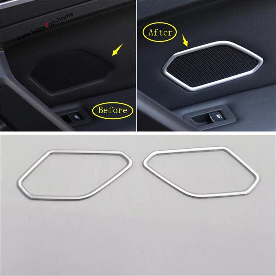 Yimaautotrims Rear Car Door Stereo Speaker Audio Sound Loudspeaker Cover Trim Fit For Volkswagen Tiguan MK2 2016 - 2019 Interior