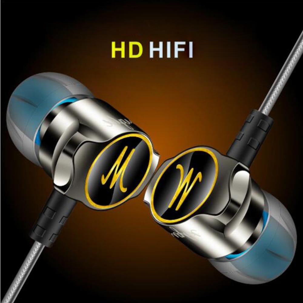 Nueva D7 De alta fidelidad en los Auriculares De aleación De Zinc De auricular Fone De Ouvido Auriculares inalámbricos audífonos estéreo BASS Metal para Mp3 DJ