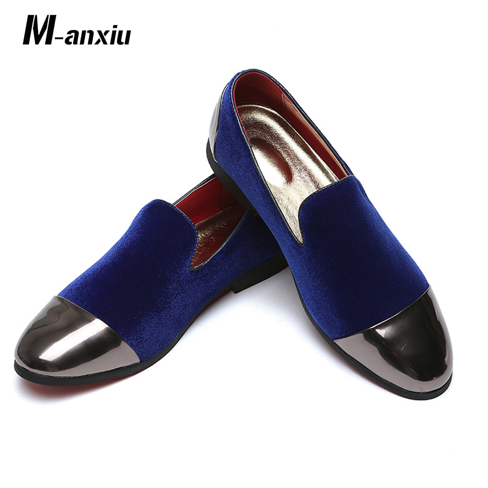 Men's Casual Shoes Shoes Devoted M-anxiu New Trend Flock Personality Casual Shoes Set Feet Simple Breathable Hard-wearing Peas Shoes Bright Comfortable Loafers Bracing Up The Whole System And Strengthening It