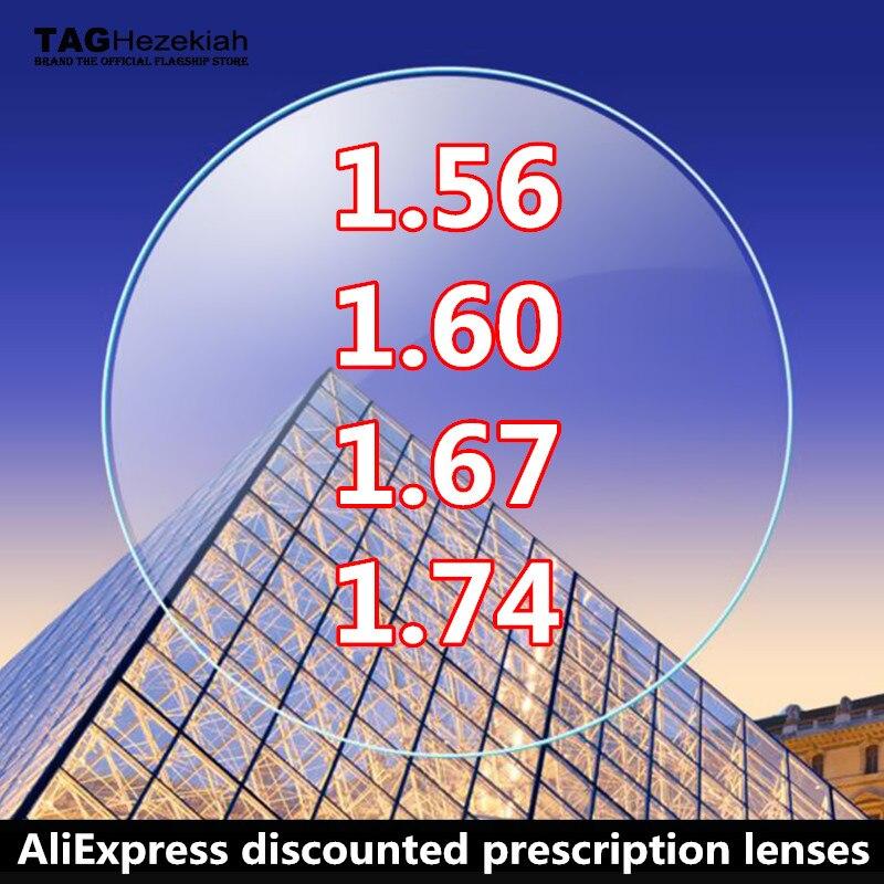 1.56 1.61 1.67 1.74/-0.5 ~-12.00/+ 0.5 ~ + 12.00 reçete reçine asferik mavi ışık gözlük lensler miyopi hipermetrop presbiyopi