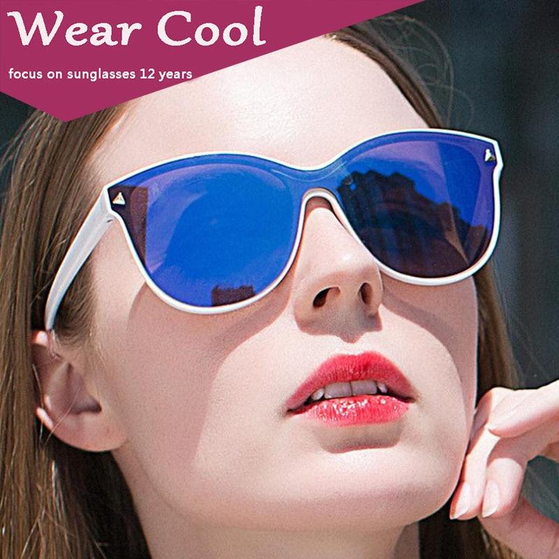 Wear Cool 2018 New Sunglasses Women Vintage Colorful Retro Fashion Rimless Sun Glasses Women's Brand Eyewear UV400 Alloy Mirror