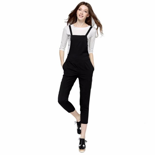 Chegada nova T-shirt Das Mulheres Macacões Conjuntos Conjuntos de Animais Impressos Camisetas Brancas Calças Pretas Casual Tops Strap Longo Playsuits AE001