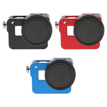 Aluminum Alloy Protective Frame Housing Case Mount With 52mm Lens Cover for Gopro Hero 5 Sports Action Camera