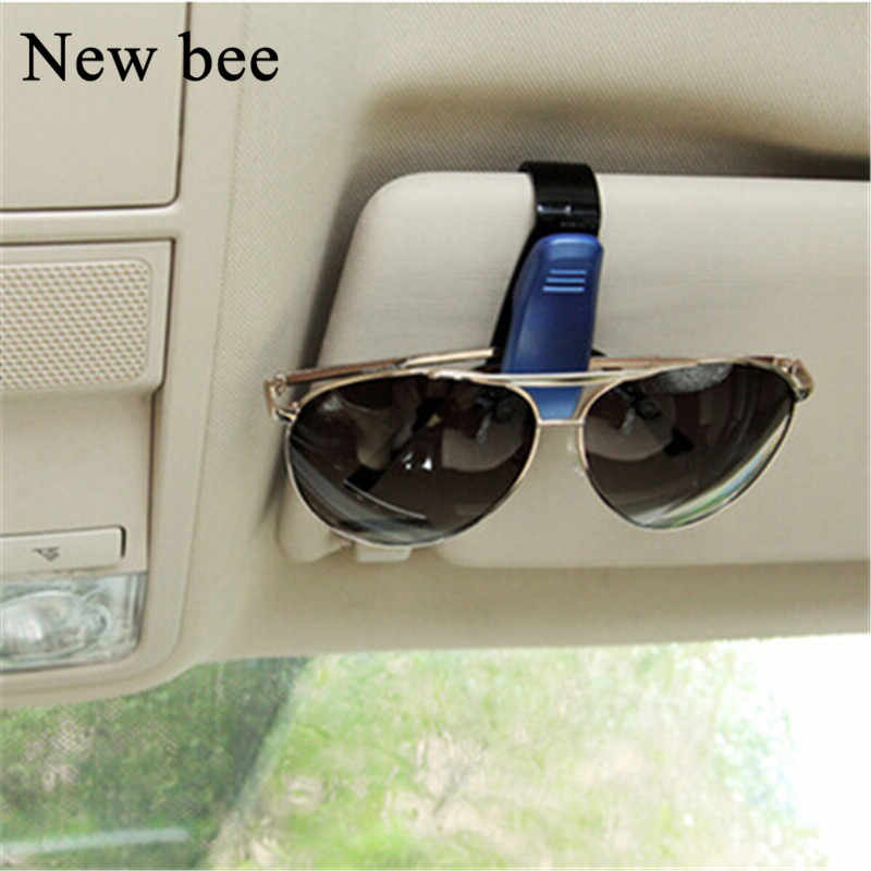 Newbee Fashion Accessories Car Styling Sun Visor Sunglasses Clip Fastener Ticket Permit Holder Card Pen Organizer For BMW Honda