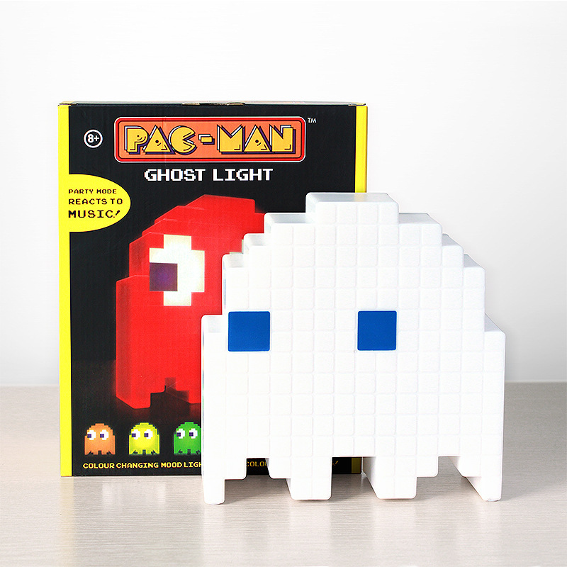 Creative Pac-Man, pixel wars, colorful, colorful beans, ghosts, lights, intelligent music lighting, atmosphere light, table lamp