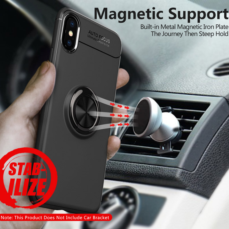 magnetic Finger <font><b>Ring</b></font> <font><b>phone</b></font> case back holder house style cover for huawei iphone 5 S SE 6 6S 7 8 X plus samsung S8 S9 note8 cases