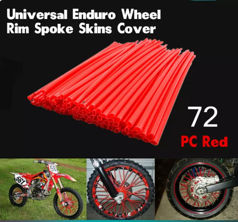 Motocross Universal SPOKE SKINS Wheel RIM SPOKE COVERS For BMW R1200GS F800GS KTM 450 SX-F 150 SX Honda XR650L CRF250L CR125 150