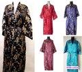 Бесплатная доставка! Womem в кимоно / мантии дракон и феникс халат пижамы с поясом sml XL 2XL 3XL