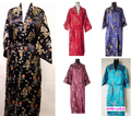 Free Shipping!!! Womem's Kimono Robe/Gown Dragon&Phoenix Bathrobe Sleepwear With Belt S M L XL 2XL 3XL