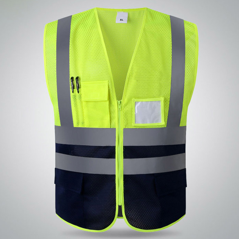 Workplace Safety Supplies Safety Clothing Careful High Visibility Mesh Fabric Safety Vest Reflective Mesh Vest Breathable Free Shipping
