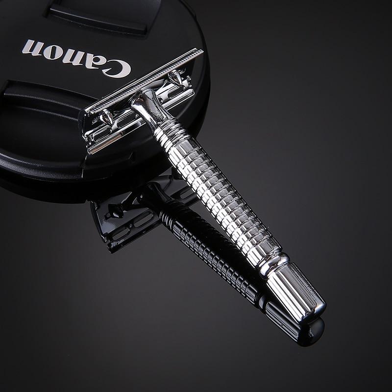 Classic T-shaped Double Edge Blade Razor Shaving Safety Blade Razor Shaver Handle Barber Men's Manual Beard Hair Care UN274