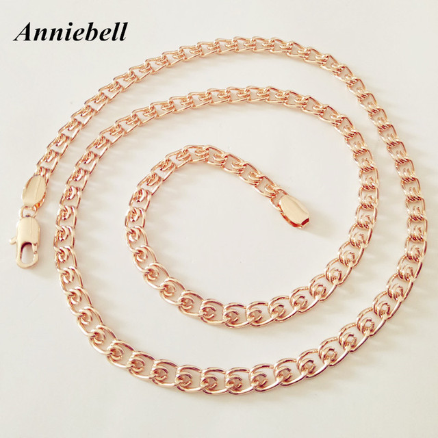 Anniebell Factory Direct New Fashion Rose Gold Color Jewelry Men