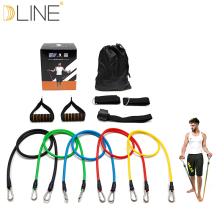 11pcs / set Træk Rope Fitness Øvelser Modstand Bands Crossfit Latex Tubes Pedal Excerciser Body Training Workout Yoga