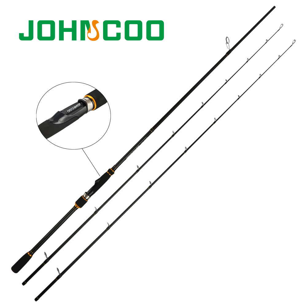 Johncoo NEW 2.4m Spinning Fishing Pole Extra-Fast Action M MH 2 Tips Carbon Rod 10-40g Sensitive Fishing Rod Fishing TackleJohncoo NEW 2.4m Spinning Fishing Pole Extra-Fast Action M MH 2 Tips Carbon Rod 10-40g Sensitive Fishing Rod Fishing Tackle