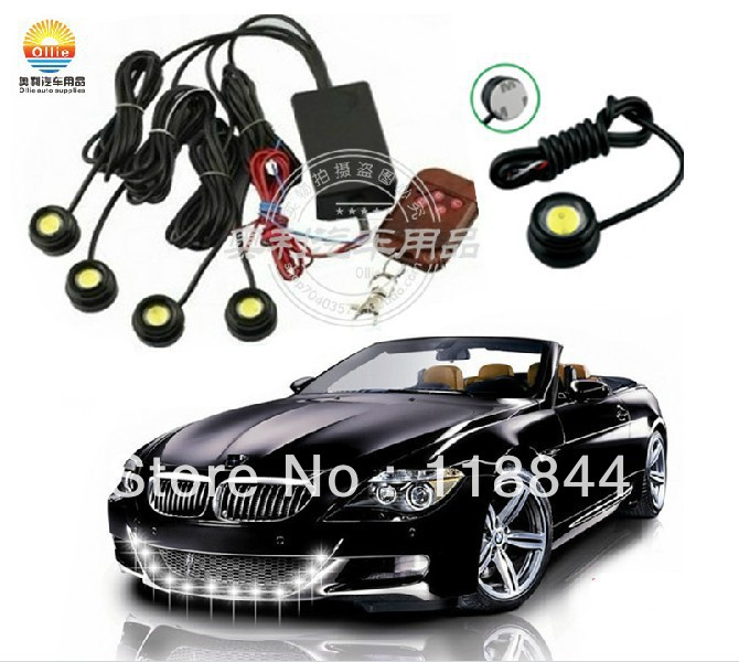4*1.5W IP68 strobe flash eagle eye light led car reversing backup tail stop daytime running