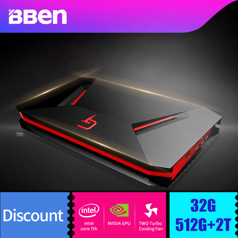 Bben GB01 Laptop Gaming Computer 6G GDDR5 Ram NVIDIA GEFORCE GTX1060 Intel I7-7700HQ CPU 8G/16G/32G Ram Option WIFI BT4.0