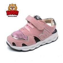Niños zapatillas niñas sandalias 2018 nueva llegada embroma los Zapatos Sandalias del bebé transpirable deporte estudiante para niña Sandalias Niño