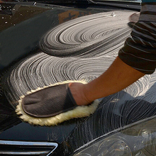 Soft Wool Car Wash Clean Sponge Brush Glass Cleaner Glove Auto Motorcycle Washer Car Care Cleaning