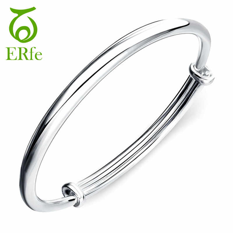 Women Smooth Polished Silver Cuff Bracelet Bangle Imitation Braclet Femme Argent Female Braselet Pulcera Femenina SB023