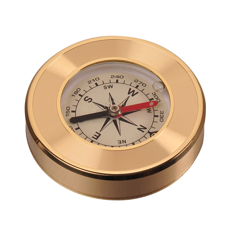 font b Naturehike b font Outdoor Mini Exquisite Hardcover Brass Copper Compass Navigation Camping Hiking