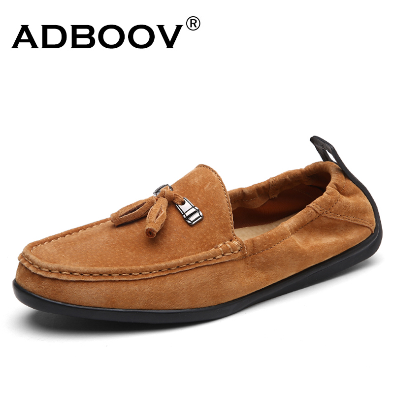 ADBOOV Fashion Tassel Men Loafers Moccasins Genuine Leather Men Shoes Casual Comfortable Driving Shoes Flats Zapatos Hombre pair of trendy rhinestone oval leaf earrings for women page 3
