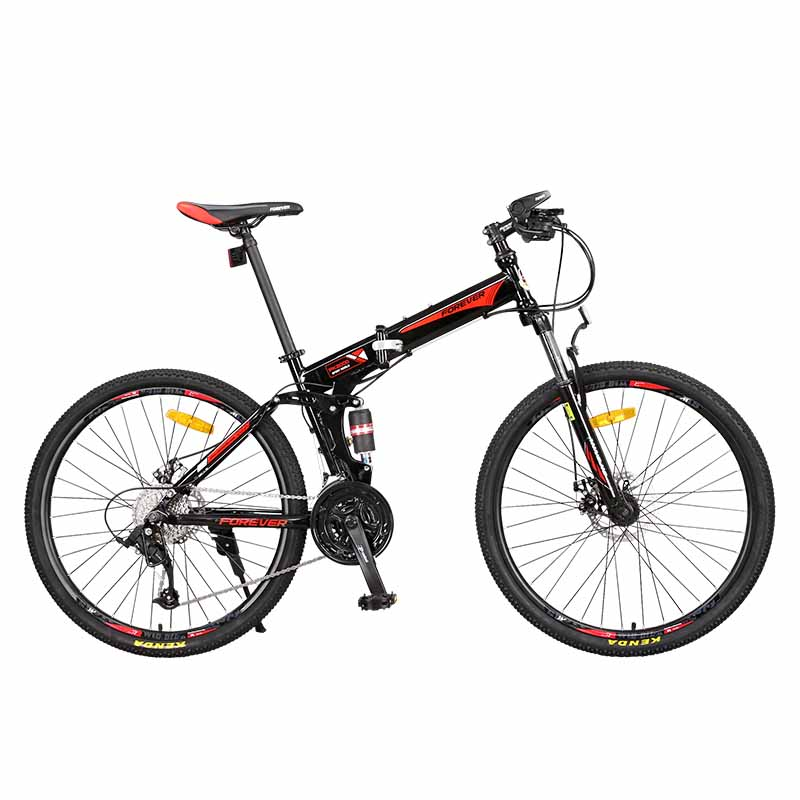 LH-1 Mountain Bike 26 Inch 27 Speed Change Adult Male Shock Absorption All Terrain Folding Bicycle