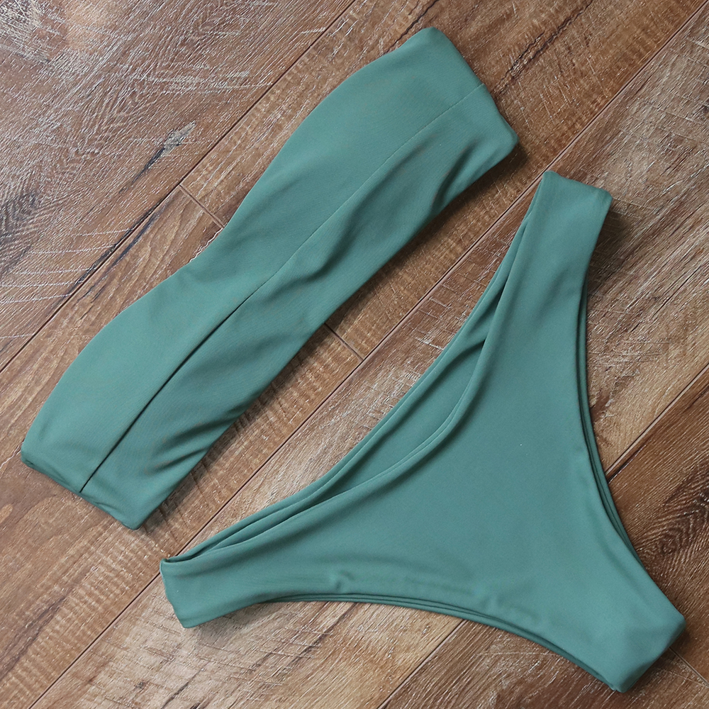 Conjunto de Bikini sexi sin tirantes traje de baño para mujer trajes de baño Bikini Push Up traje de baño para mujer ropa de playa traje de baño Biquini