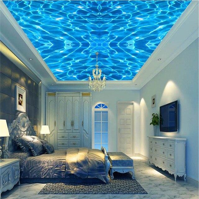 Buy murals wall paper modern art blue top for Contemporary resort mural