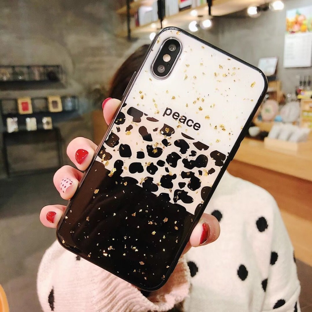 Aoweziic For iphone XS XR leopard mobile phone case XS MAX all inclusive anti fall soft shell 7 6s 8plus fashion shell in Fitted Cases from Cellphones Telecommunications