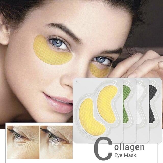 LANBENA 24 К золото Коллаген маска для глаз патчи темный круг маска для сна для глаз сумка против старения морщин твердый уход за кожей 10 шт. = 5 пар