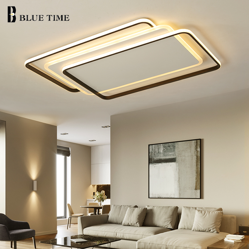 New Arrival Modern Led Chandeliers For Living Room Bedroom Dining Room Round Square Rectangle Home Chandelier Lighting Fixtures modern led ceiling chandeliers for living room bedroom square rectangle white black home dec modern led chandelier fixtures