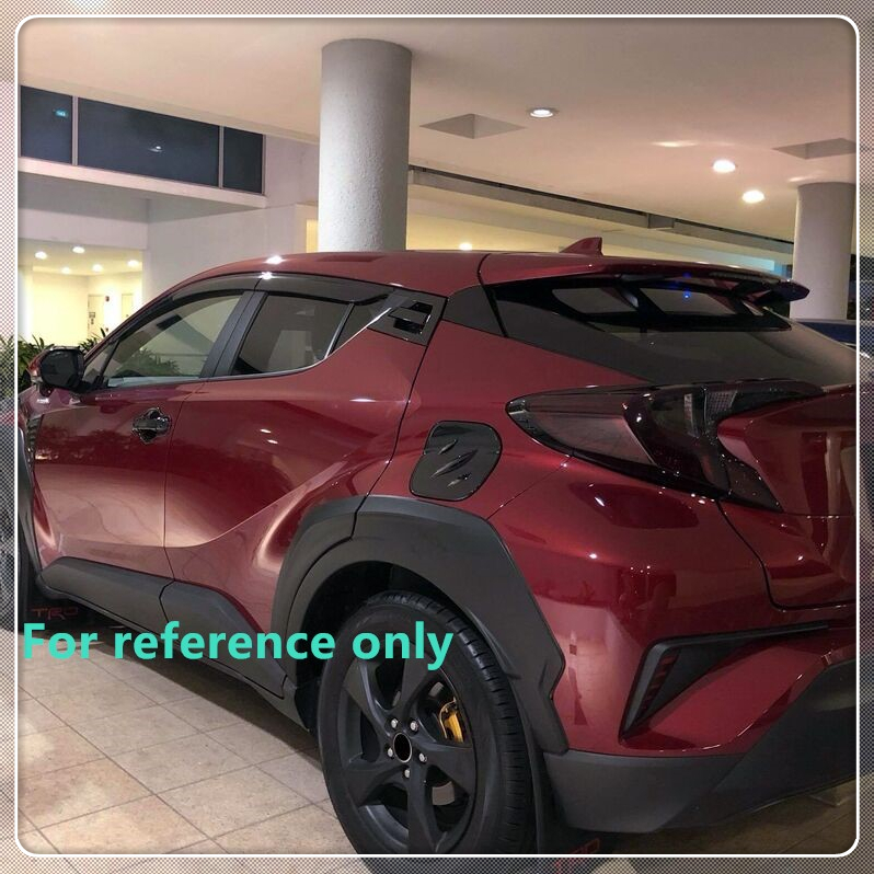For Toyota CHR C HR 2016 2017 2018 Car Fender Flares Arch Wheel Eyebrow Auto Wheel Lip Protector Cover Trim Unpaint Car Styling