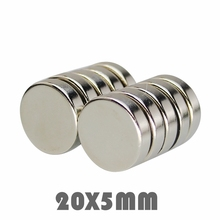10/20/30pcs N35 Neodymium magnet 20x5mm Super strong round powerful permanent neodymium magnetic Rare Earth disc 20*5mm