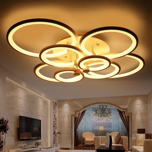 modernas lmparas de techo led para dormitorio sala de estar accesorios de iluminacin de acrlico redondo