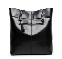 2018 new leather leisure women bag contracted  leather tote bags  woman single handbag