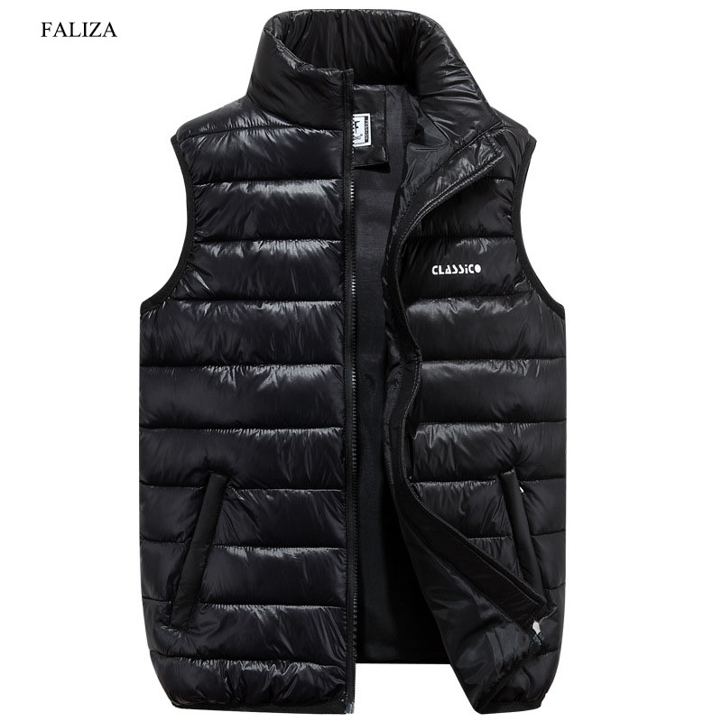 FALIZA Vest Men New Stylish Spring Autumn Winter Warm Sleeveless Jacket Army Waistcoat Men's Vest Fashion Casual Coats 6XL MJ-F