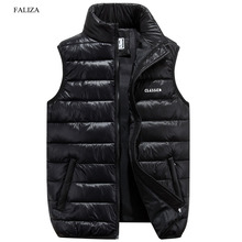 FALIZA Vest Men New Stylish Spring Autumn Winter Warm Sleeveless Jacket Army Waistcoat Mens Vest Fashion Casual Coats 6XL MJ F
