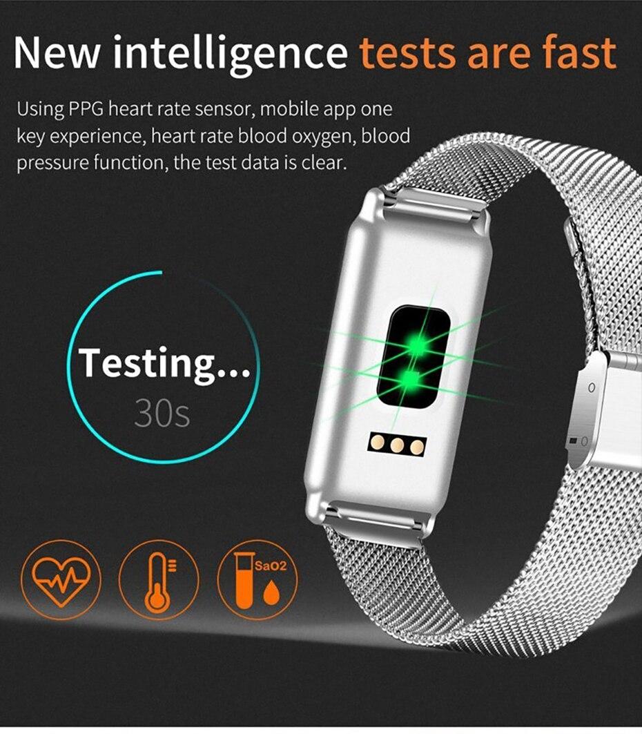 Y8 Smart Watch Stainless Steel Women Sports Touch Screen Health Bracelet Ons Men Fitness Bracelet for Measuring Pressure Fitness 2018 2019 (9)