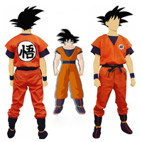 Dois Estilo Adulto anime Dragon Ball Z Son Goku Traje Cosplay Trajes de Halloween para crianças