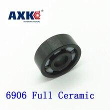Axk 6906 Full Ceramic Bearing ( 1 Pc ) 30*47*9 Mm Si3n4 Material 6906ce All Silicon Nitride Ceramic 6906 Ball Bearings