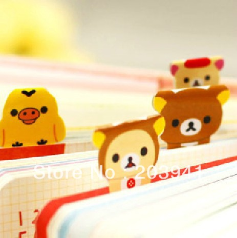 Learned 2pcs/lot New Cute Rilakkuma Stationery Bookmark Paper Sticker Diy Multifunction Label Cartoon Stickers Bright In Colour Labels, Indexes & Stamps Office & School Supplies